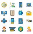 Support icons flat set vector image vector image
