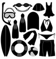 swimming diving snorkeling aquatic equipment tool vector image vector image