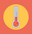 thermometer flat icon vector image