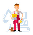 tiler flat style colorful cartoon vector image