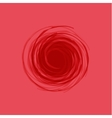 twisted spiral abstract red in the vector image vector image