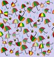 Umbrellas violet vector image