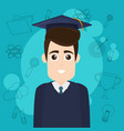 university student cartoon vector image vector image