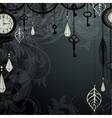 vintage dark background with antique clocks