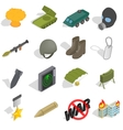 War Icons set isometric 3d style vector image vector image