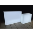 White rectangular boxes on a black background vector image vector image