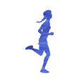 woman running marathon or jogging abstract effect vector image