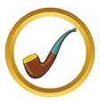 Wooden pipe icon cartoon style vector image vector image