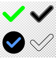 yes tick eps icon with contour version vector image vector image