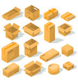 cardboard boxes of various shapes and sizes vector image