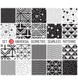 Universal set seamless patterns vector image