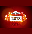 new year marquee 2018 vector image