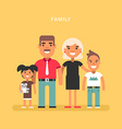 a family four mom dad son daughter colored flat vector image