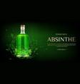 absinbottle mock up banner blank glass flask vector image vector image