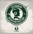 alternative eco engineer stamp vector image vector image