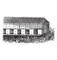 Apiary or Bee yard vintage engraving vector image vector image