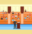 audience conference hall composition vector image vector image