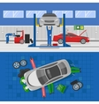 Auto Service Compositions vector image vector image