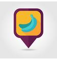 Banana flat pin map icon Tropical fruit vector image vector image