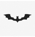 bat icon isolated on light background vector image