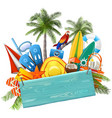 beach concept with blue plank vector image