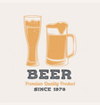 beer retro badge design vintage design vector image