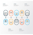 car colorful outline icons set collection of car vector image vector image