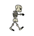 cartoon skeleton bones fairy tale vector image vector image