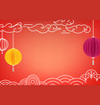 chinese style greeting card template vector image