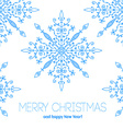 Christmas card with hand drawn snowflakes vector image vector image
