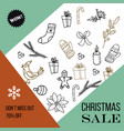 christmas sale poster design template vector image vector image