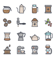 Coffee Icon Bold Stroke with Color vector image vector image