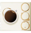 coffee stains vector image vector image
