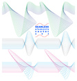 Collection of dimensional motif elegant flowing vector image vector image
