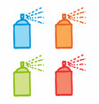 colorful spray cans vector image vector image