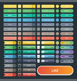 colorful website web buttons design vector image vector image