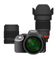 compact modern professional camera with spare vector image