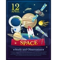 Cosmonautics Day poster vector image