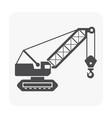 crawler crane icon vector image