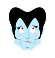dracula surprised emoji vampire astonished vector image vector image