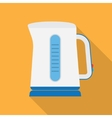 Electric kettle flat icon vector image vector image