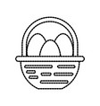 farm basket and egg food natural vector image