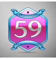 Fifty nine years anniversary celebration silver vector image vector image