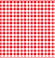 firebrick gingham pattern textured red and white vector image vector image