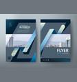 flyer design leaflet cover template vector image vector image