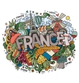 France country hand lettering and doodles elements vector image vector image