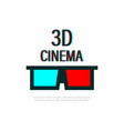 glasses 3d cinema logo glasses 3d for cinema vector image