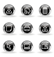Glossy icon set 28 vector image vector image