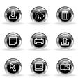 Glossy icon set 28 vector image