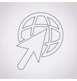 go to icon vector image
